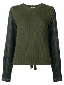 Nº21 tie back jumper - Green