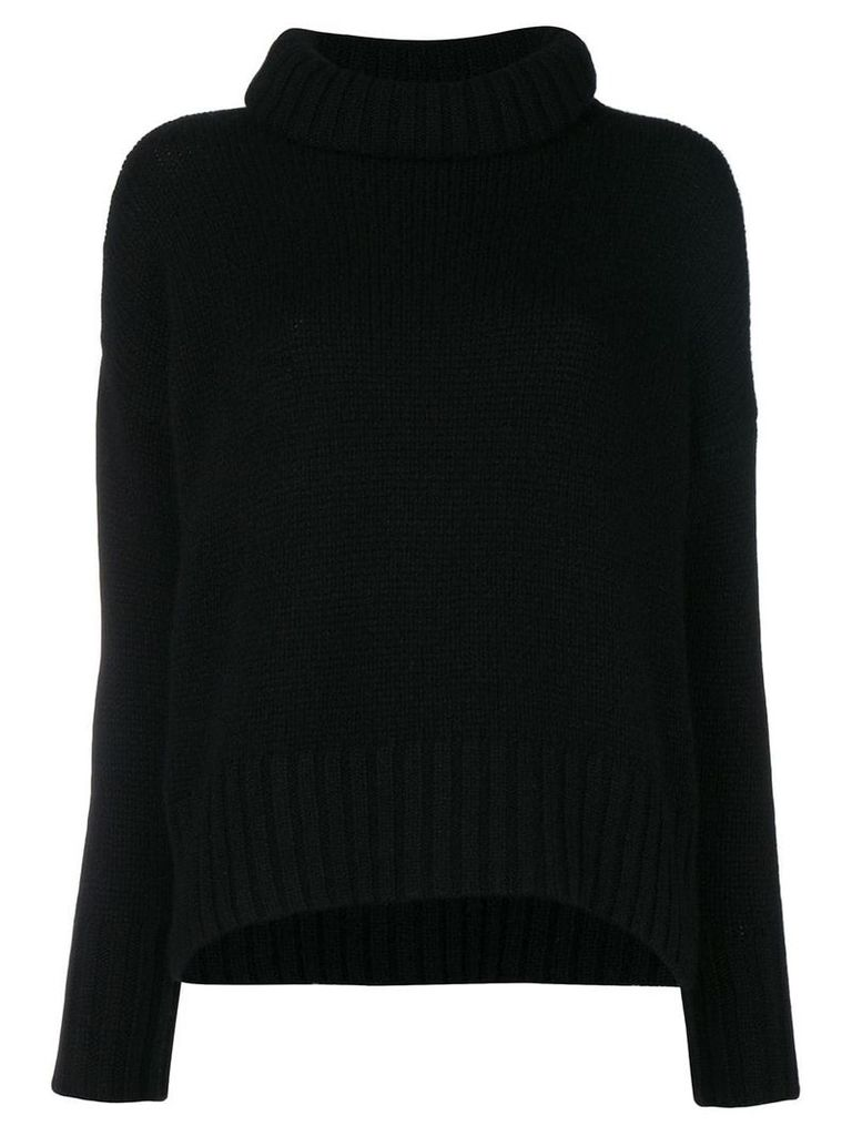 Incentive! Cashmere cashmere roll neck jumper - Black