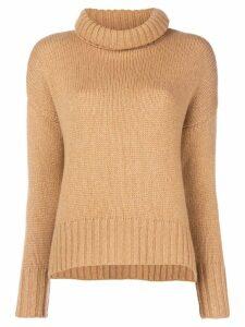 Incentive! Cashmere cashmere roll neck jumper - Neutrals