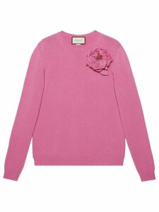 Gucci detachable rose corsage jumper - Pink