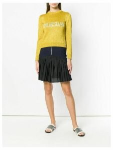 Alberta Ferretti crew neck jumper - Yellow