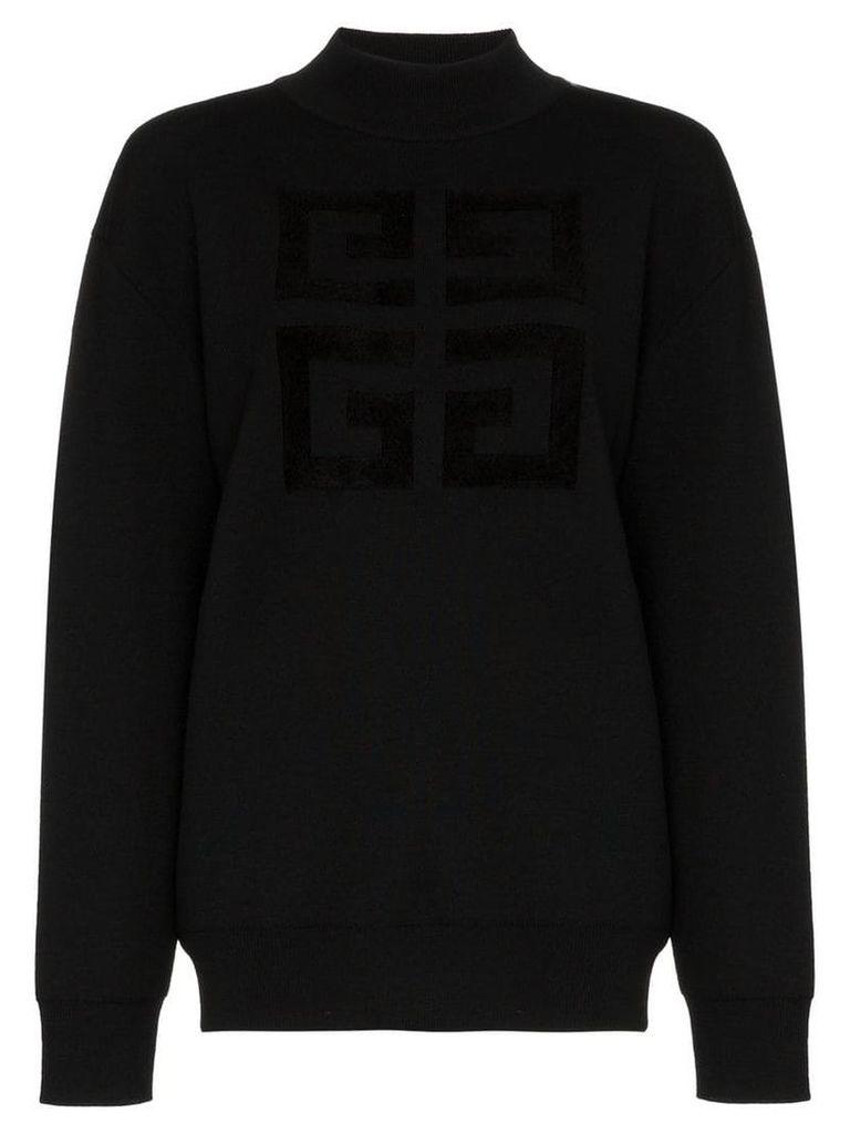 Givenchy logo print wool blend sweater - Black