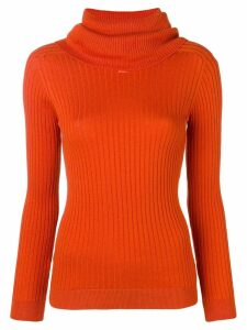 Courrèges roll neck fitted sweater - Orange
