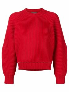 Alexander McQueen chunky knit sweater - Red