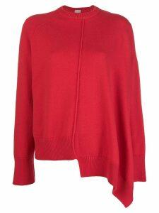 MRZ asymmetric crew neck sweater - Red