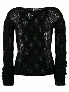 Miu Miu open knit jumper - Black