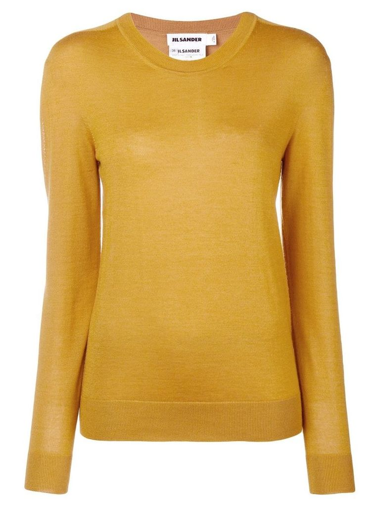 Jil Sander round neck jumper - Yellow