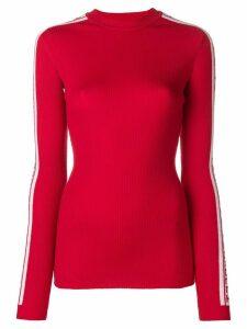 Fiorucci logo stripe jumper - Red