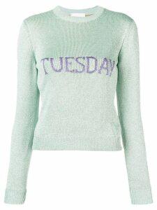Alberta Ferretti Tuesday intarsia sweater - Green