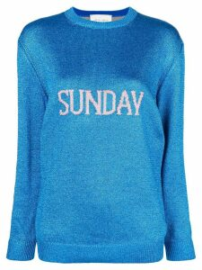 Alberta Ferretti Sunday intarsia knit sweater - Blue