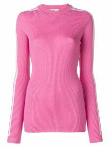Fiorucci logo stripe jumper - Pink