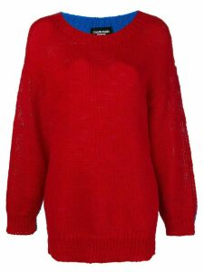 Calvin Klein 205W39nyc oversized colour-block sweater - Red