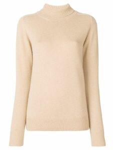 Victoria Beckham cashmere roll neck jumper - Brown