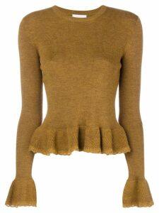 See By Chloé peplum knit jumper - Brown