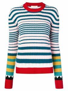 La Doublej striped rib sweater - Blue