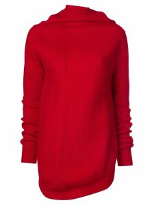 Jil Sander cowl neck jumper - Red