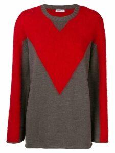 P.A.R.O.S.H. bi colour jumper - Red