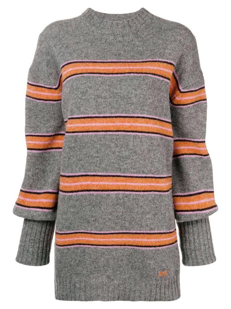 MSGM striped jumper - Grey