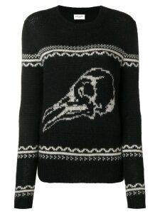 Saint Laurent skull knit sweater - Black
