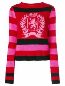 Hilfiger Collection stripe logo sweater - Red