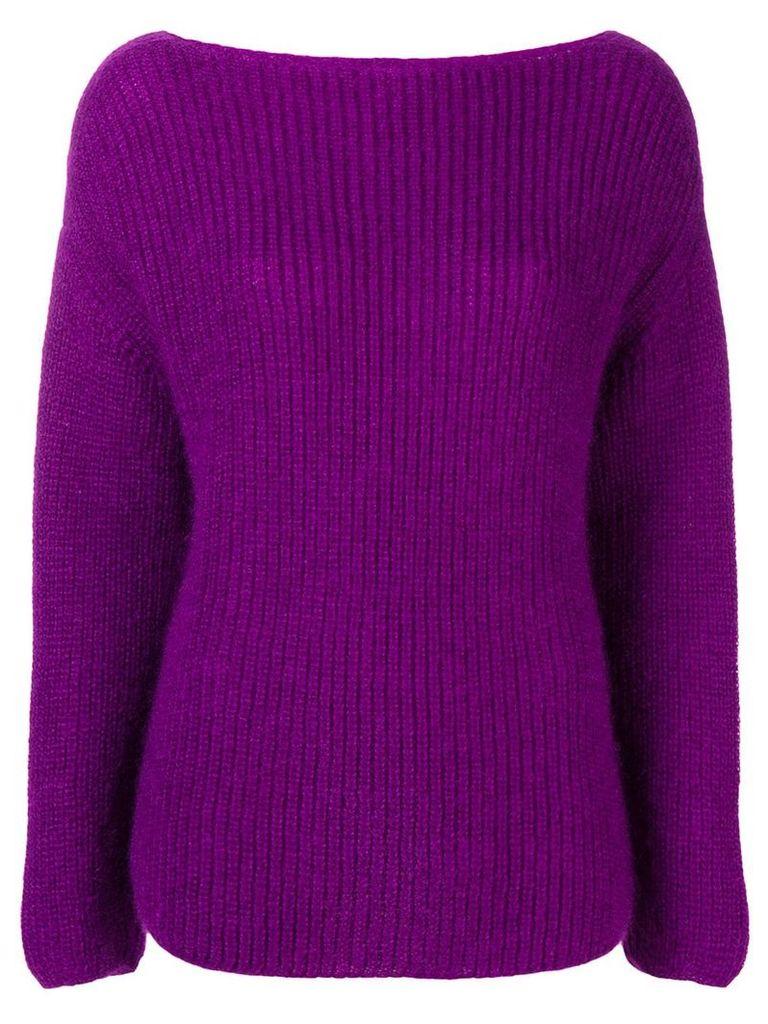 Forte Forte round neck jumper - Purple