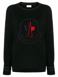 Moncler embroided logo sweater - Black
