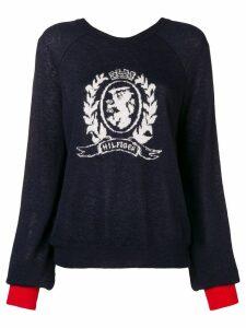 Tommy Hilfiger logo knit sweater - Blue