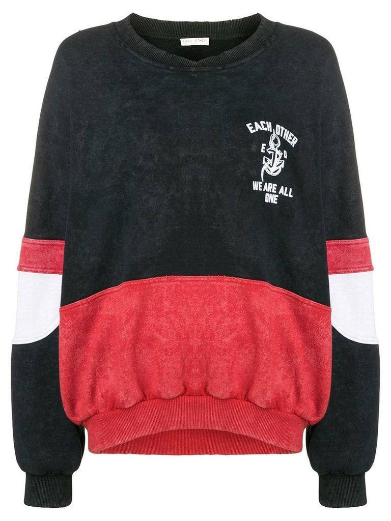 Each X Other colour blocked design seweatshirt - Black
