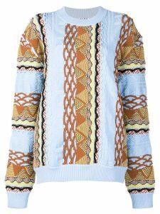 Aalto contrast knit sweater - Blue