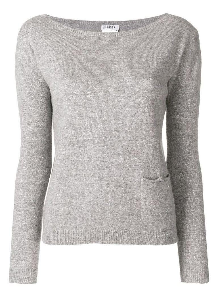 Liu Jo single pocket sweater - Grey