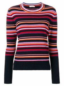 Tory Burch multi-stripe sweater - Blue