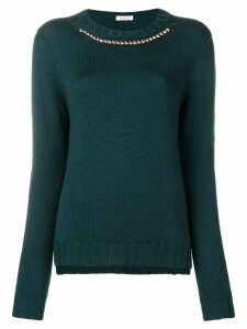 P.A.R.O.S.H. embellished collar jumper - Green