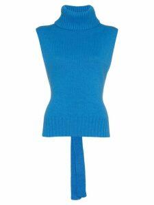 Etro roll-neck sleeveless sweater - Blue