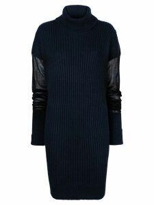 Maison Margiela elongated knitted jumper - Blue