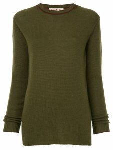 Marni crew neck knitted sweater - Green