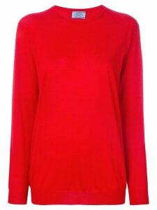Prada crew neck jumper - Red