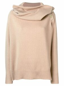 Mes Demoiselles oversized neck sweater - Neutrals