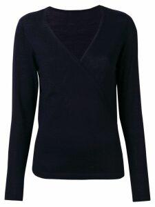 Sottomettimi V-neck wrap sweater - Blue