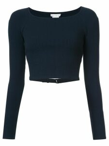 Fleur Du Mal cropped fitted sweater - Black