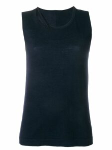 Sottomettimi knit tank top - Blue