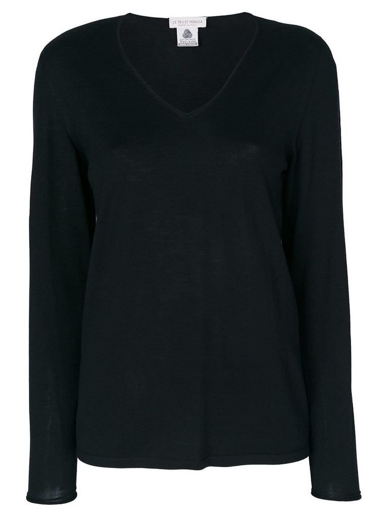 Le Tricot Perugia scoop neck top - Black