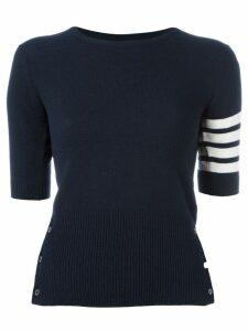 Thom Browne cashmere stripe detail sweater - Blue