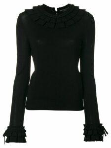 Ermanno Scervino ruffle trim sweater - Black