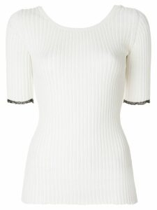 Proenza Schouler Ribbed Scoop Back Top - White