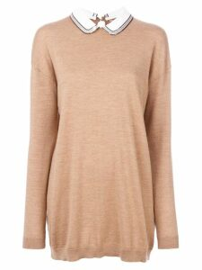Nº21 collar knitted sweater - Neutrals