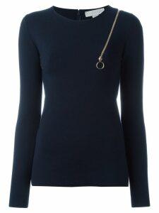 Stella McCartney zip shoulder detail top - Blue