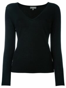 N.Peal cashmere superfine v-neck sweater - Black