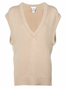 Chloé V-neck loose knitted top - Neutrals