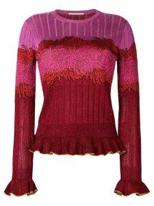 Marco De Vincenzo floral knitted top - Multicolour