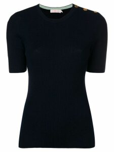 Tory Burch Taylor ribbed sweater - Blue